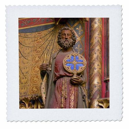 3dRose Saint Chapelle, Paris, France - EU09 DBN0715 - David Barnes - Quilt Square, 10 by