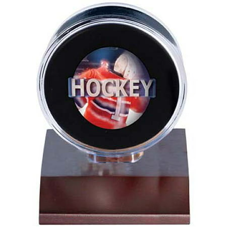 Ultra Pro Dark Wood Base Puck Holder