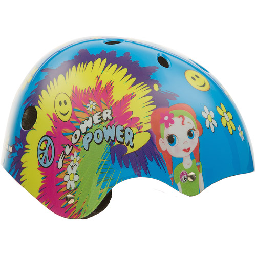 TITAN Flower Power Princess Protective BMX and Skateboard Helmet