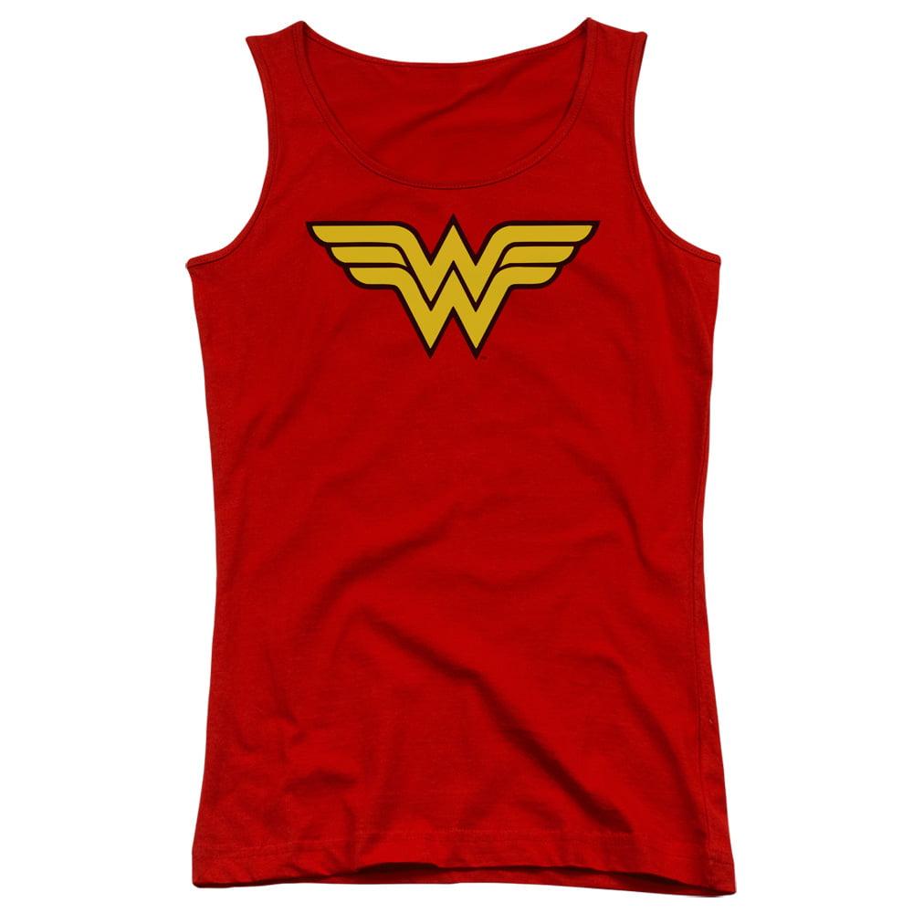 DC/WONDER WOMAN LOGO - JUNIORS TANK TOP - RED - LG