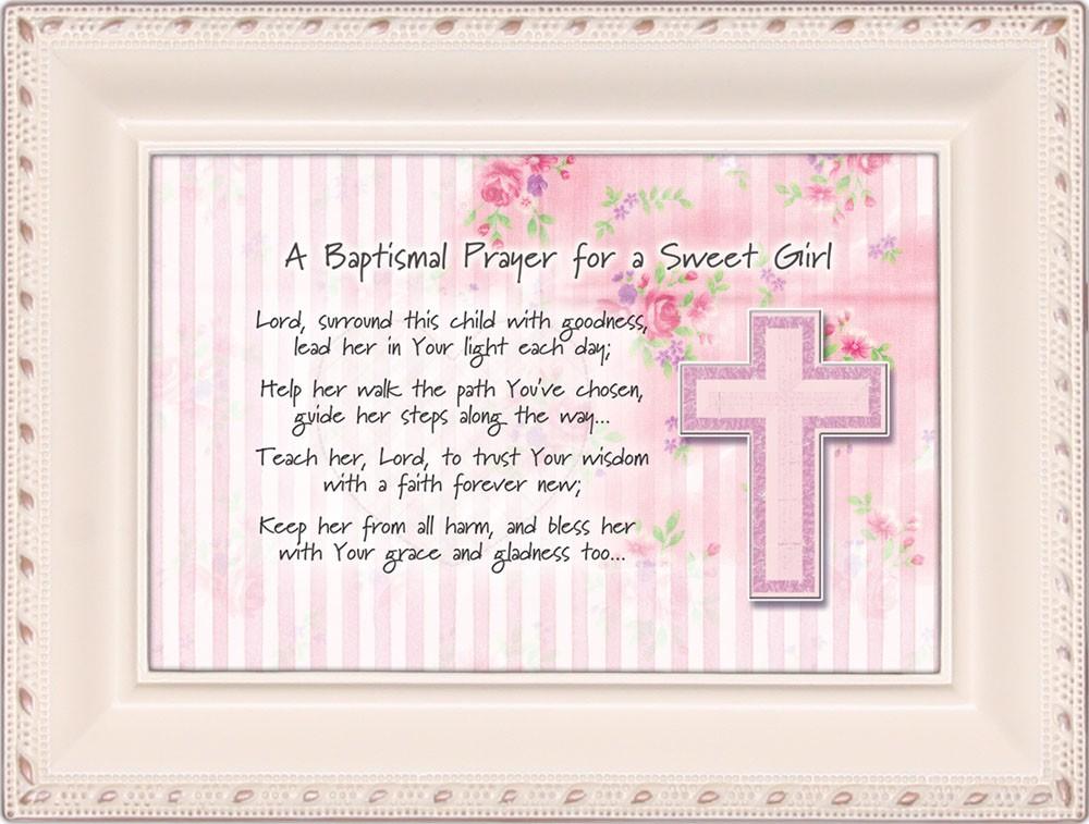 Cottage Garden Baptismal Religious Gift Prayer Girl Ivory Music Box   Jewelry... by
