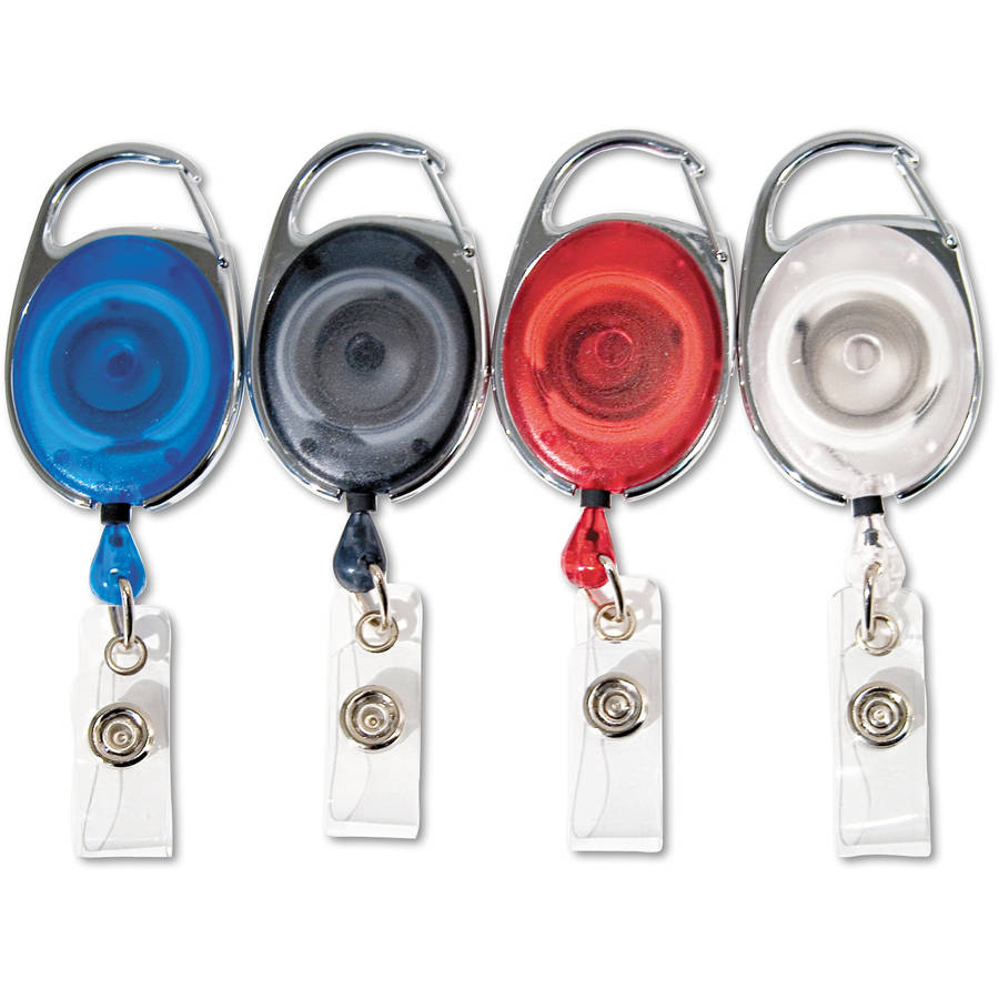 "Advantus Carabiner-Style Retractable ID Card Reel, 30"" Extension"