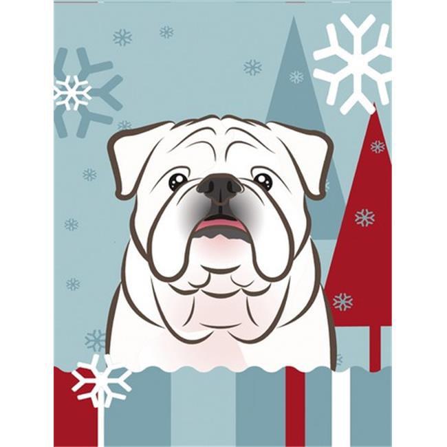 Carolines Treasures BB1715CHF Winter Holiday English Bulldog Flag Canvas House Size - image 1 de 1