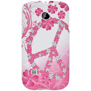 - Huawei Case, Rubberized Protector Back Case Slim Designed Snap On Cover for Huawei Summit U8651, Huawei Prism U8651, Huawei Ascend II M865 - Peace & Love