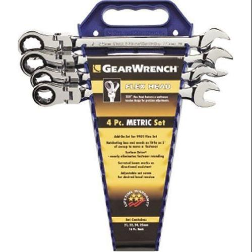 Gearwrench KDT-9903 4 Pc. Flex Combination Ratcheting Metric Wrench Completer Set