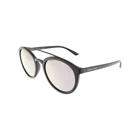 Giorgio Armani Mirrored AR8083-50425R-52 Black Oval Sunglasses ()