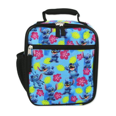 disney lilo & stitch girls boys soft insulated school lunch box (one size, blue) (Lunch Box Girls Insulated)