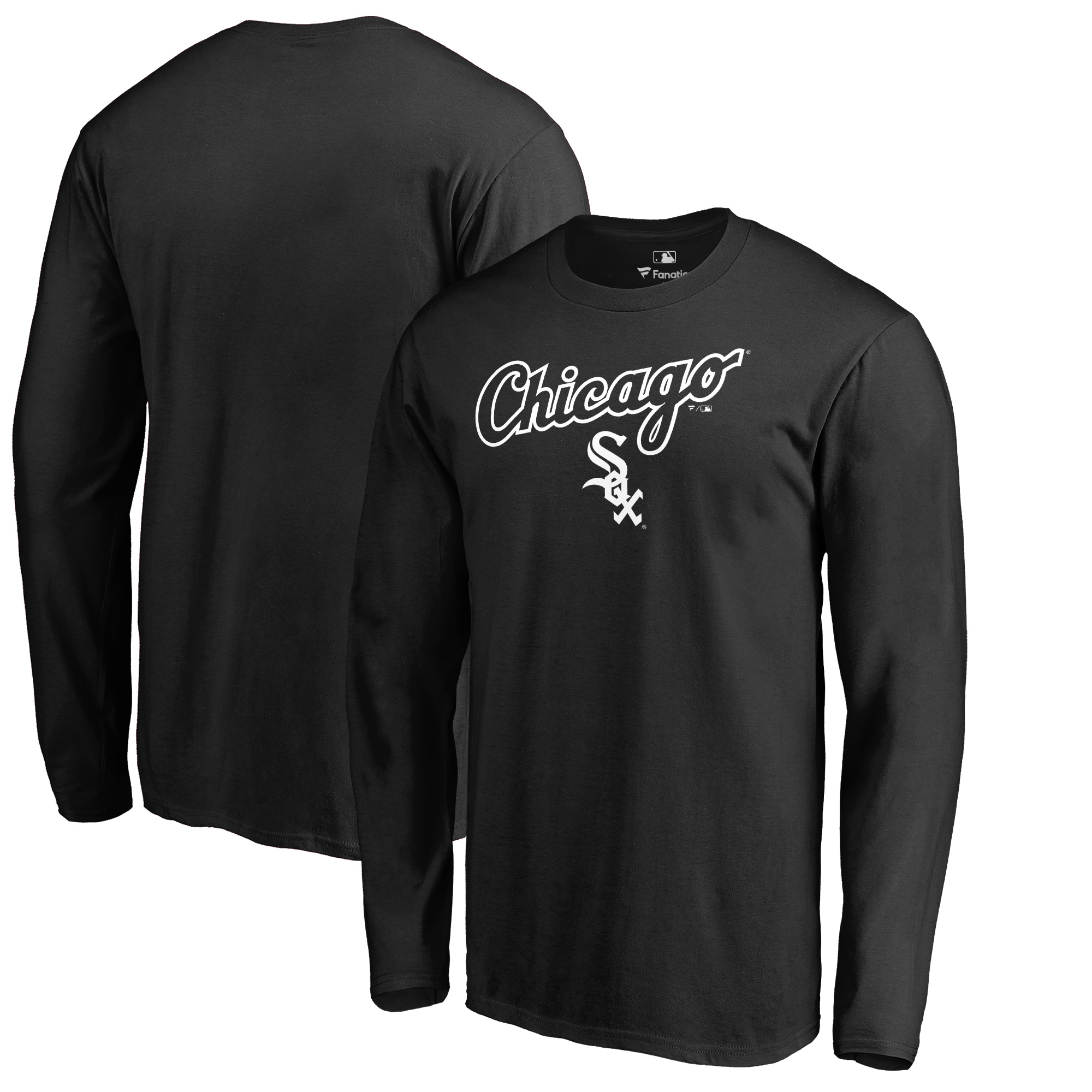 Chicago White Sox Fanatics Branded Team Lockup Long Sleeve T-Shirt - Black