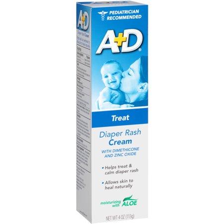 A+D Diaper Rash Cream W/ Aloe Zinc Oxide Cream, 4 oz