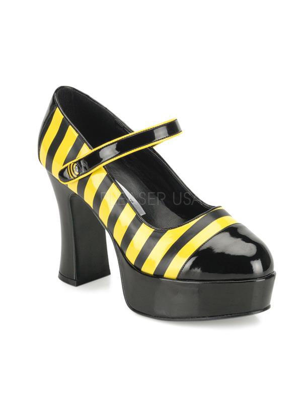 BUZZ66/BYL Funtasma Women's Shoes BLACK/YELLOW Size: 6