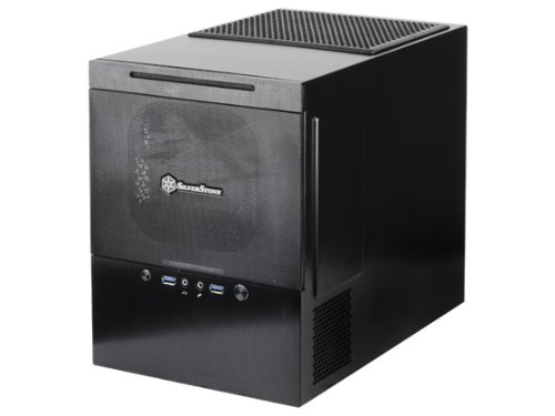 Silverstone Tek Micro-ATX DTX Mini-ITX Aluminum Front Panel Steel Body Mini Tower Computer Case SG10B, Black by SilverStone Tech Inc