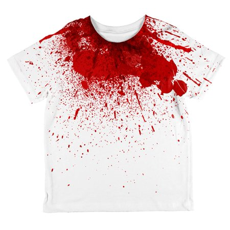 Halloween Horror Movie Victim Decapitation All Over Toddler T Shirt