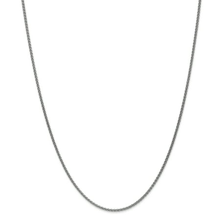 14K White Gold 1.65mm Solid Polished Spiga Chain 30 Inch - image 5 de 5