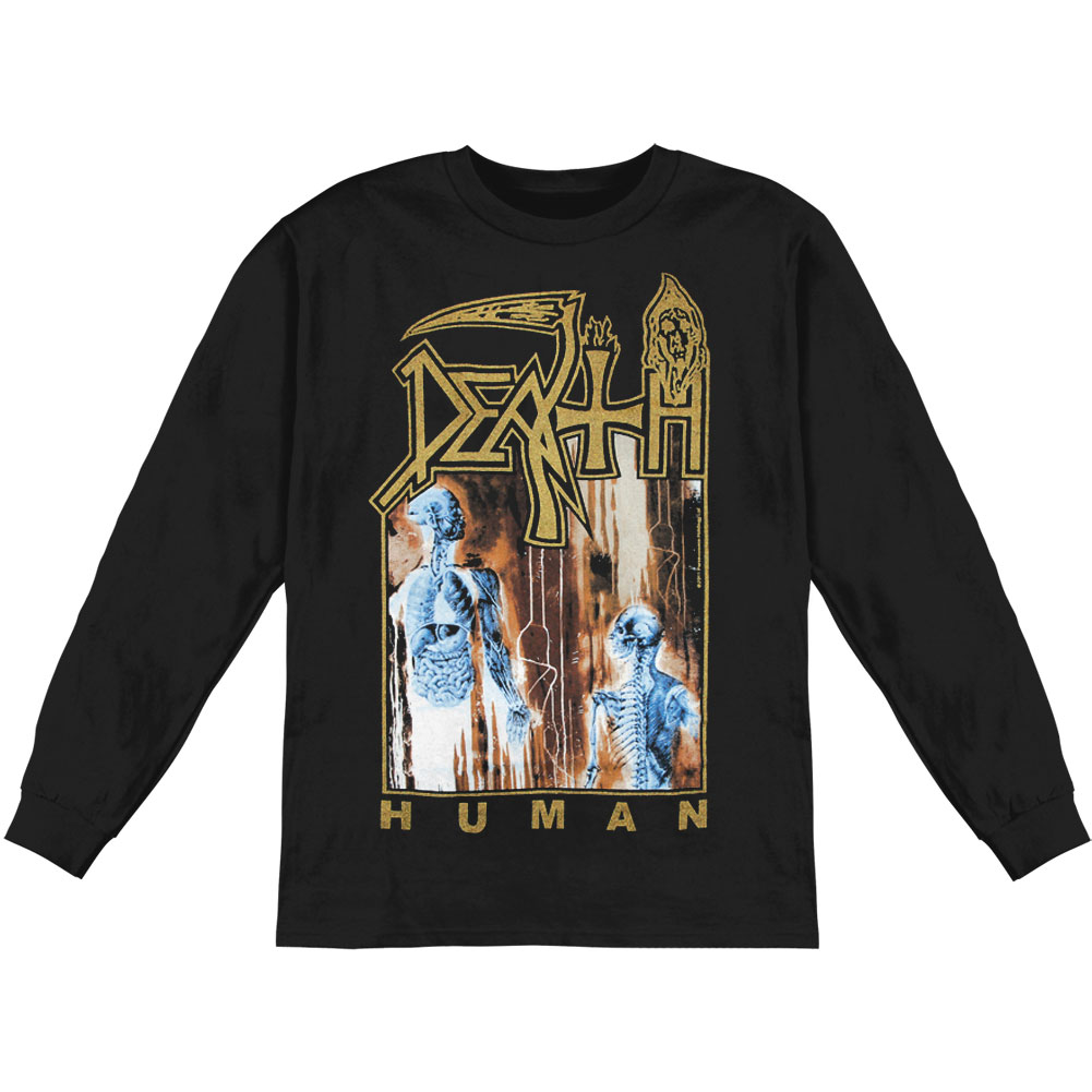 Death Men's  Human  Long Sleeve Black