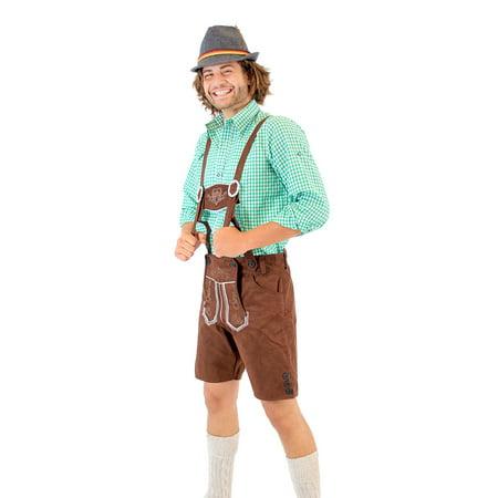 Oktoberfest German Bavarian Lederhosen Costume Shorts - German Costumes