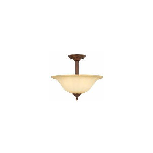 Madrid 2-Light Semi-Flush Mount Ceiling Fixture, Antique Bronze