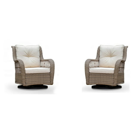 Tortuga Outdoor Rio Vista Swivel Glider Chair - Set of 2