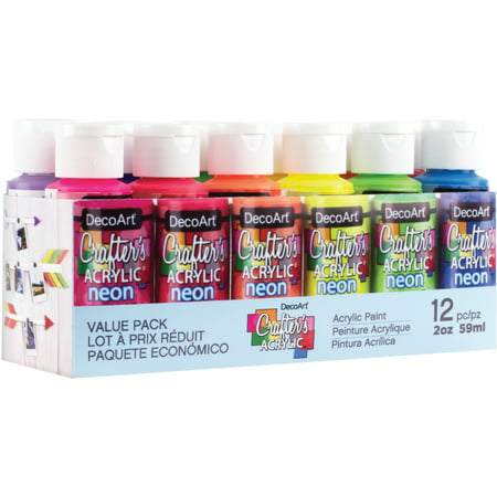 Crafters Acrylics Value Pack 12/Pkg-Brights