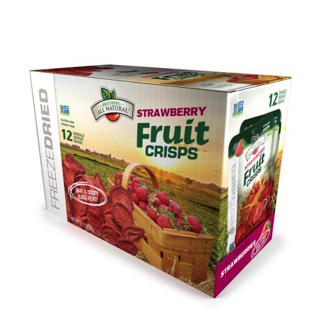 Brothers All Natural Fruit Crisp Strawberry 0.26 Ounce (Case of 12)