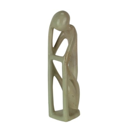 Carved Stone Sculpture (Hand Carved Natural Stone Abstract Thinker Sculpture)