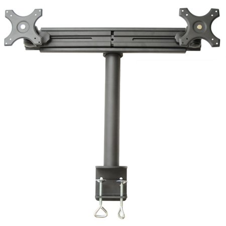 MonMount Dual Monitor Stand Straight-Arm Clamp-Style Holds up to 30
