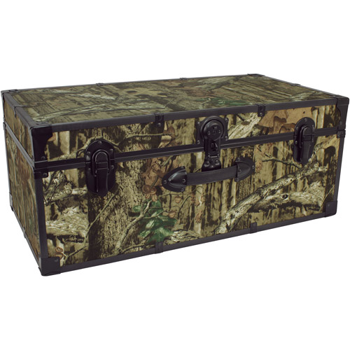 "Mercury Luggage Seward Trunk Stackable Storage Footlocker, 30"" Mossy Oak"
