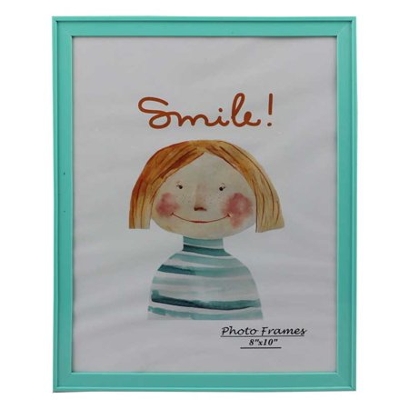 Modern Collection Photo Frame Turquoise Blue Plastic (8
