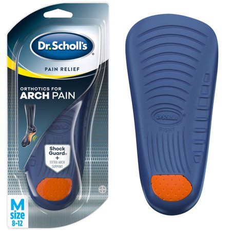 Dr. Scholl's Pain Relief Orthotics for Arch Pain for Men, 1 Pair, Size