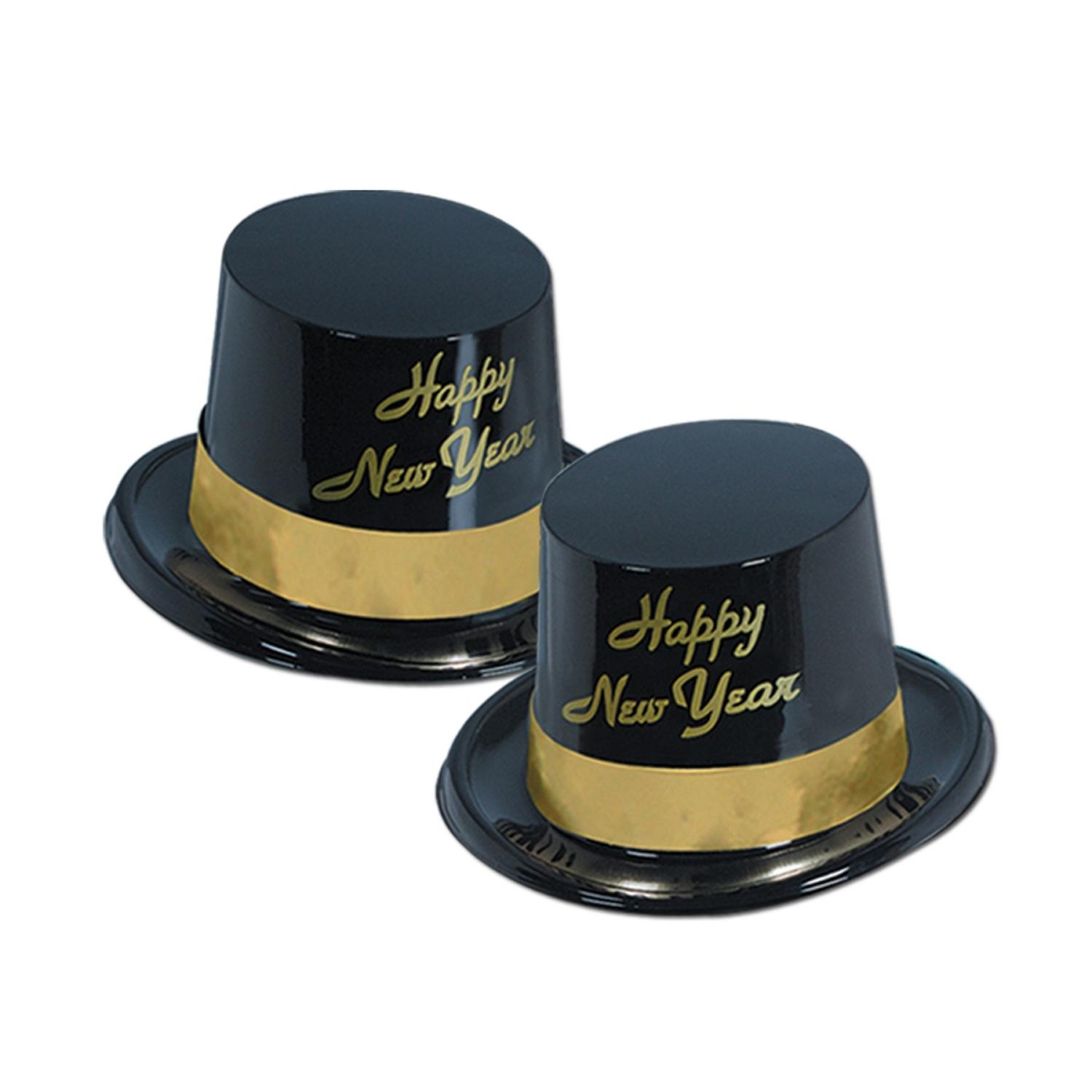 """Club Pack of 25 Festive """"Happy New Years"""" Gold Legacy Party Favor Hats"""