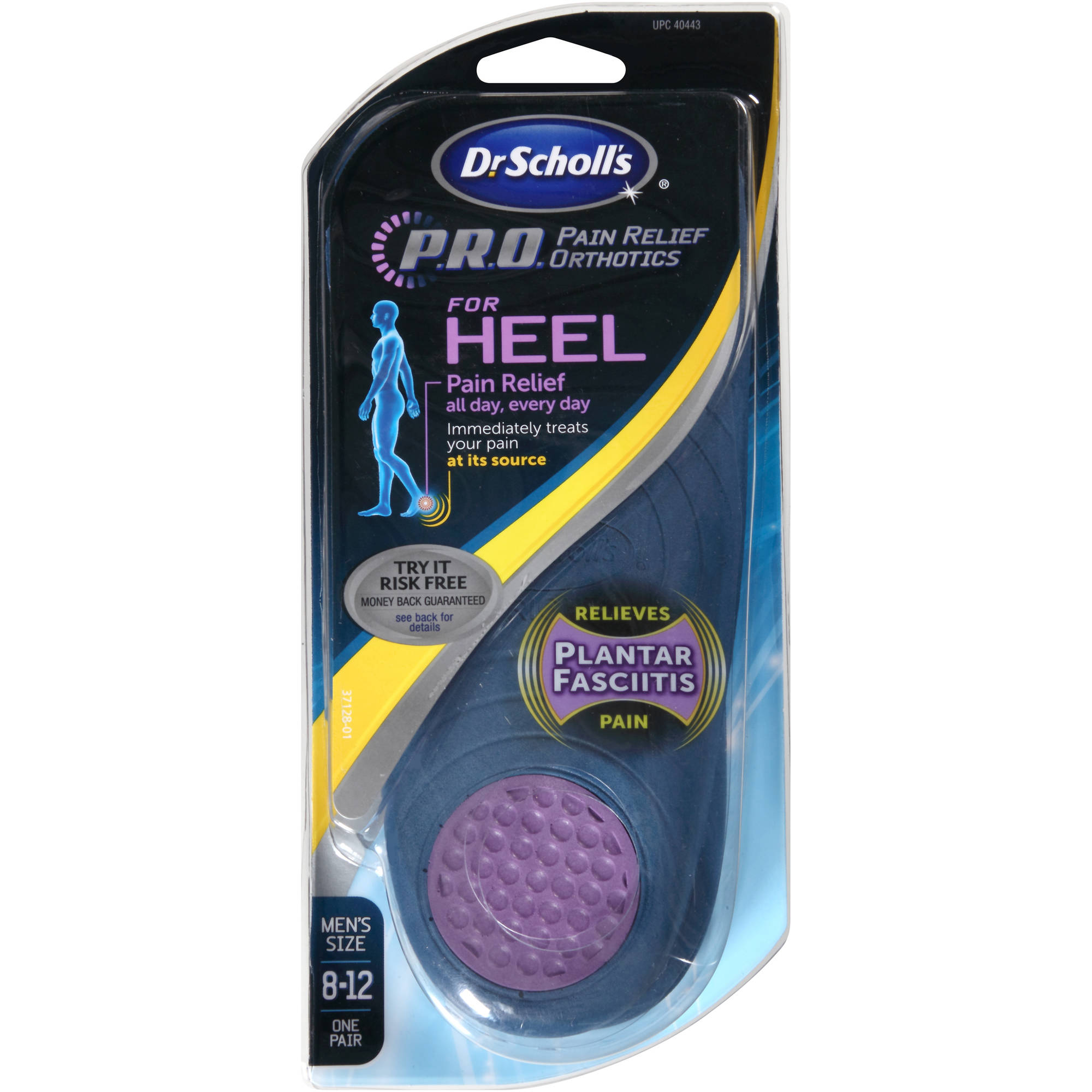 Dr. Scholl's P.R.O. Pain Relief Orthotics for Heel, 1 pr