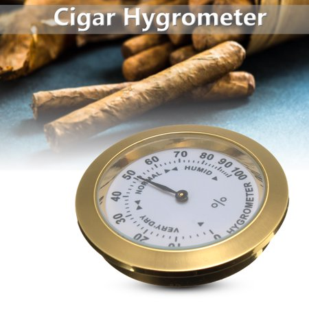 Brass Tobacco Box - Grtsunsea Brass Analog Hygrometer Cigar Tobacco Humidity Gauge w/ Glass Lens for Humidors