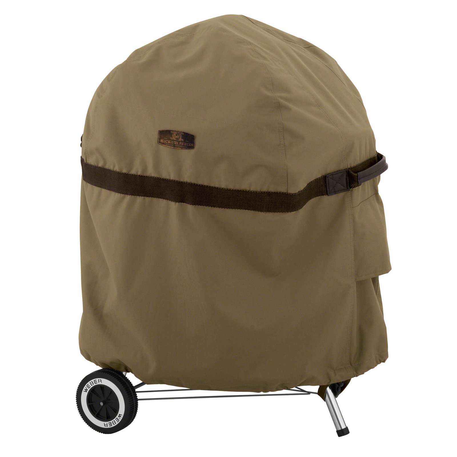 Classic Accessories Hickory Heavy-Duty Patio Kettle BBQ Grill Cover - Rugged BBQ Cover with Advanced Weather Protection (55-202-012401-EC)