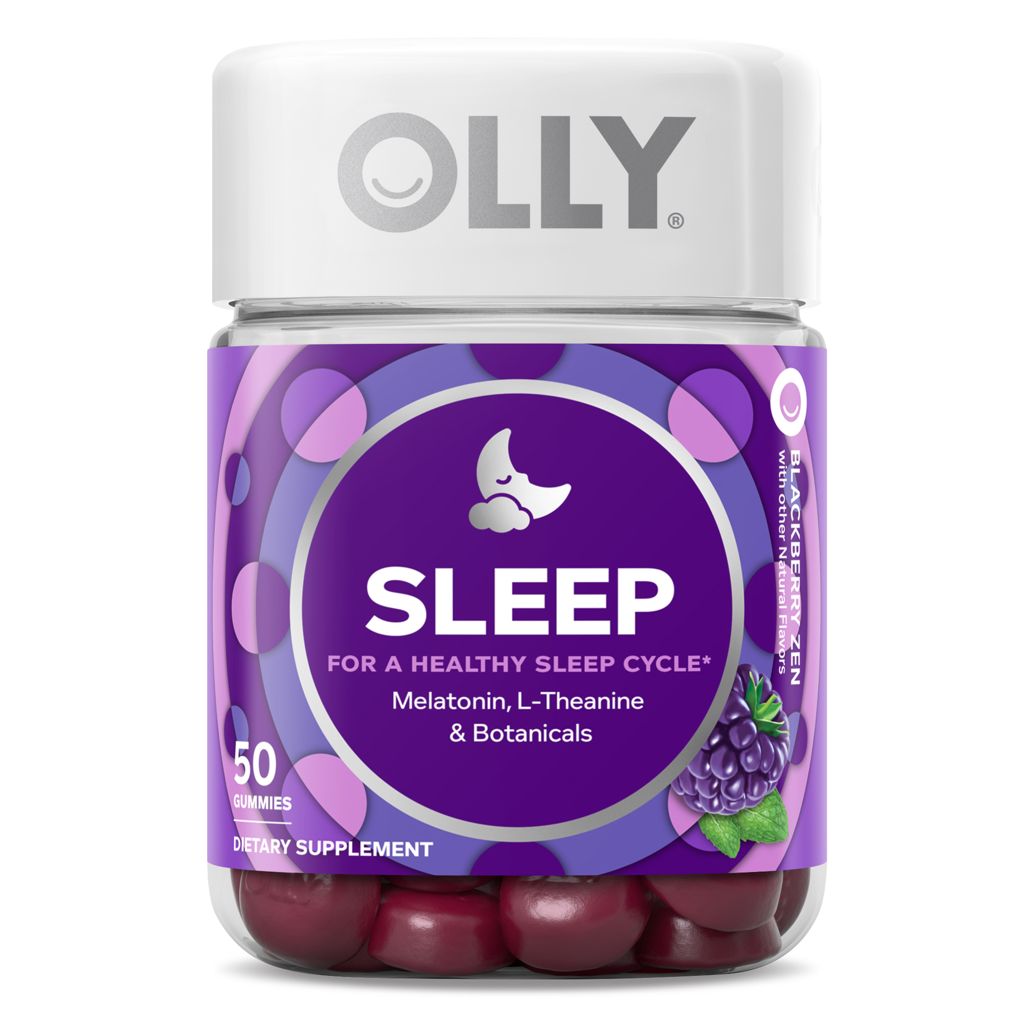 Olly Sleep Vitamin Gummies With 3mg Melatonin 50 Ct Walmart Com