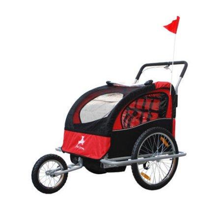 Aosom 5664-0036NEW 2-in-1 Child Bike Trailer and (Best Bike Trailer Stroller)