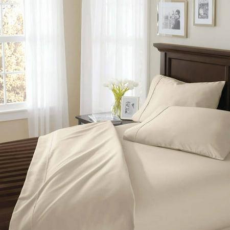 Better Homes & Gardens 400 Thread Count Solid Egyptian Cotton True Grip Bedding Sheet (Grip Sheet Metal)
