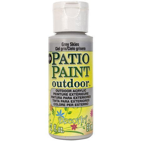 Patio paint 2oz grey skies for Craft smart acrylic paint walmart