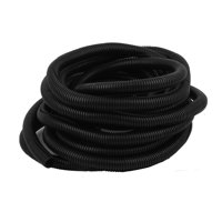 10M Length 20mm OD Corrugated Flexible Wire Cable Conduit Tubing Tube Wrap Black