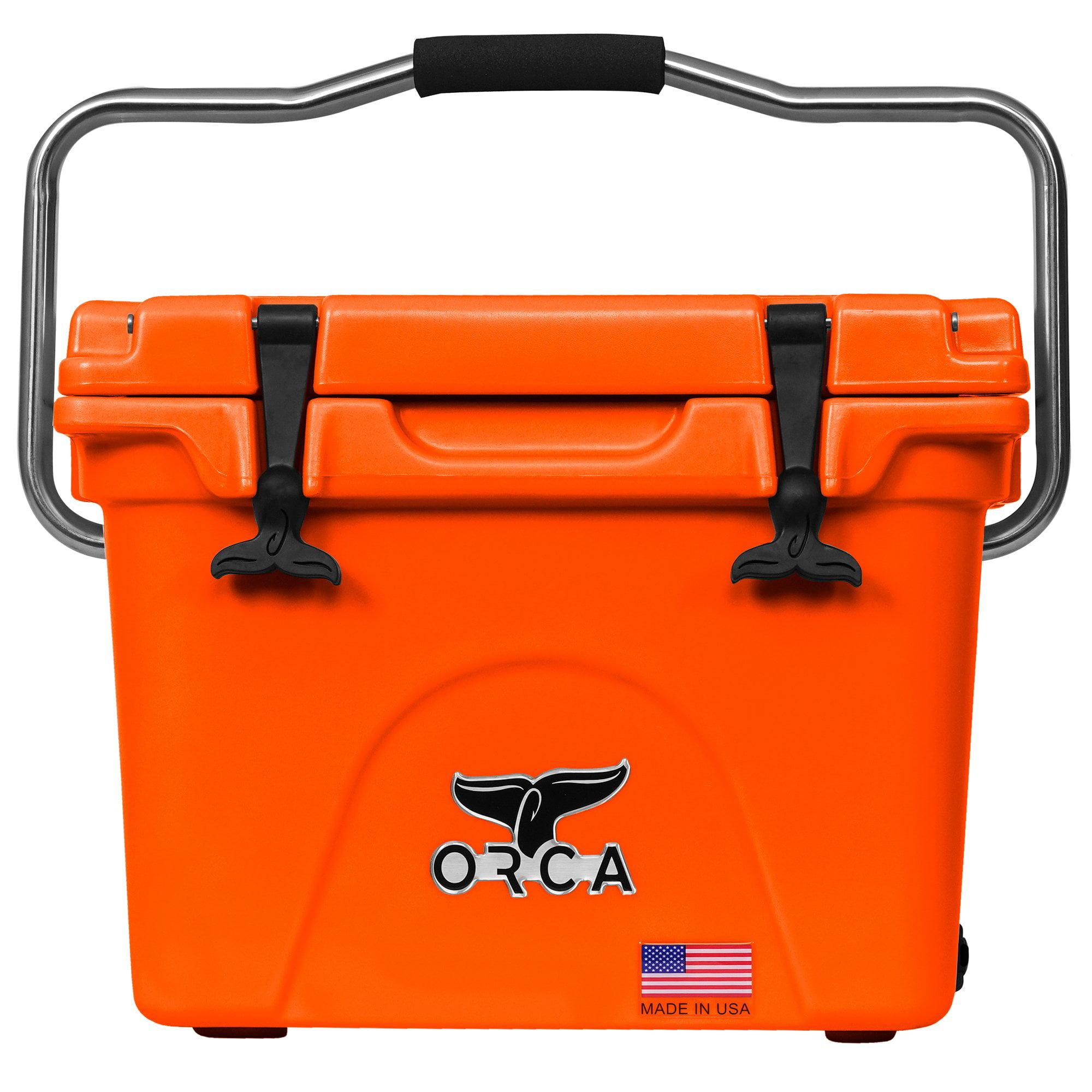 ORCA High Performance 20 Quart 18 Can Heavy-Duty Insulated Cooler, Blaze Orange