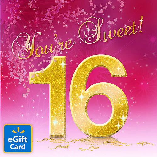 Sweet 16th Birthday Walmart eGift Card