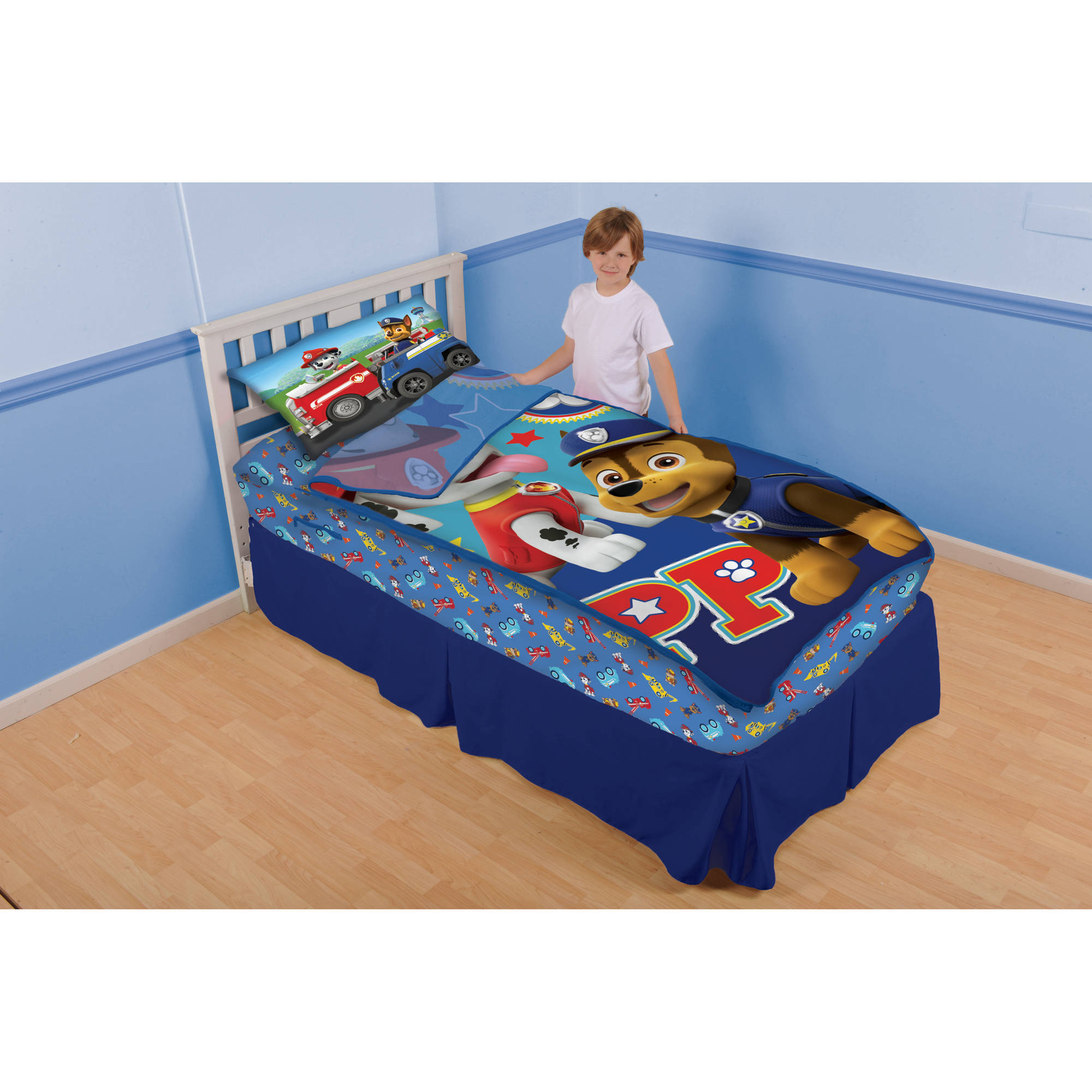 nickelodeon's paw patrol 'puptacular team' zip it bedding set with