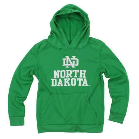 NCAA Youth North Dakota Fighting Hawks Performance Hoodie, Green ()