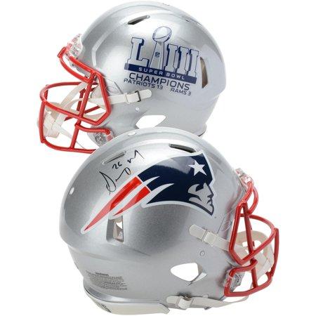 Sony Michel New England Patriots Autographed Riddell Speed Super Bowl LIII Champions Pro-Line Helmet - Fanatics Authentic Certified Autographed Patriots Pro Helmet