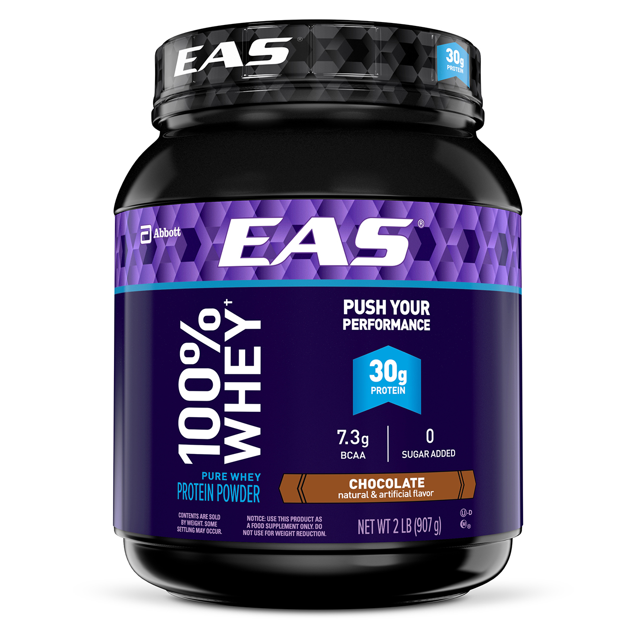 EAS 100% Whey Protein Powder, Chocolate, 30g Protein, 2 lb