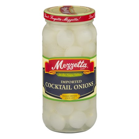 (6 Pack) Mezzetta Imported Cocktail Onions, 16 Oz (Garners Pickled Onions)