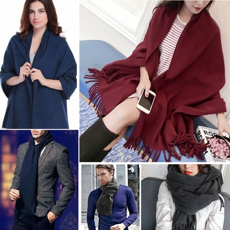 Womens Knit Scarf-Fitbest Mens Womens Knit Scarf Thick Knit Winter Infinity Circle Loop Scarf ()