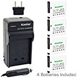 Kastar Battery (4_Pack) and Charger Kit for Canon NB_8L a...