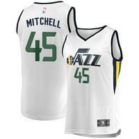 Donovan Mitchell Utah Jazz Fanatics Branded Youth Fast Break Replica Jersey White - Association Edition