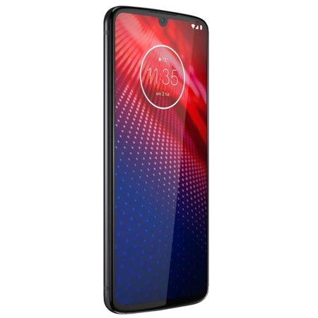 Refurbished Motorola PAF60000US Moto Z4 128GB Unlocked Cell Phone, Flash Gray ()