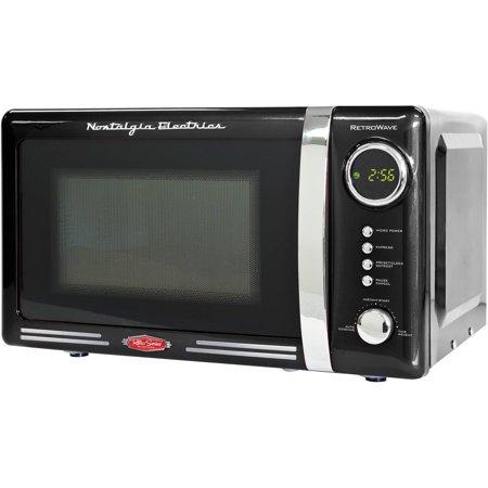 Nostalgia RMO770BLK Retro Series 0.7 cu. ft. 700W Microwave Oven