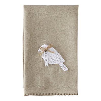 Mud Pie Bird French Knot Linen Towel](Mudpie Halloween)